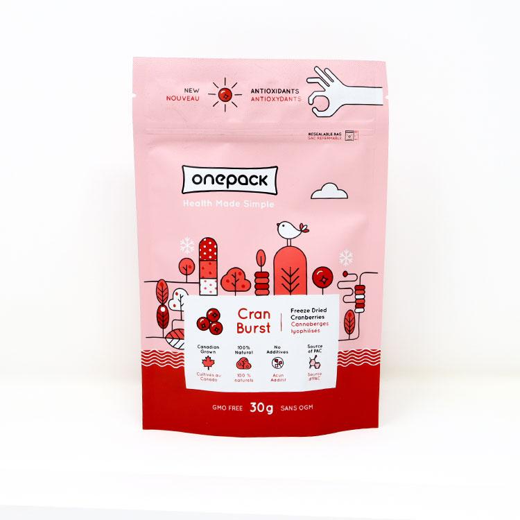 加拿大Onepack冻干蔓越莓 酸酸甜甜 小仙女最爱 好吃又健康
