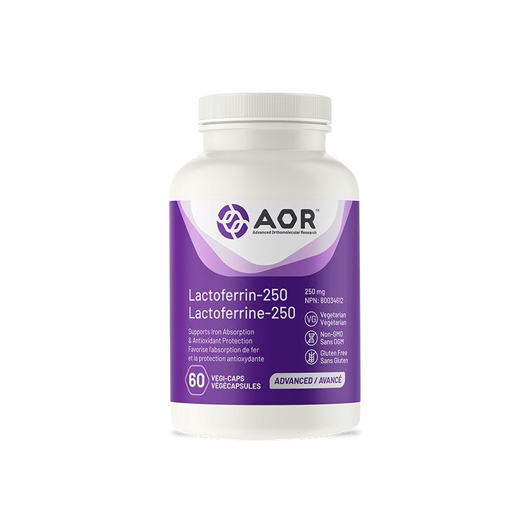 加拿大AOR加强版乳铁蛋白胶囊 60粒 抗菌抗氧化 调节免疫系统 放化疗期间推荐产品
