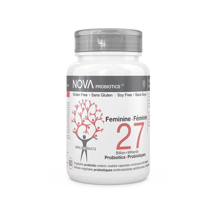 加拿大Nova女性益生菌 270亿 改善白色念珠菌感染造成的不适