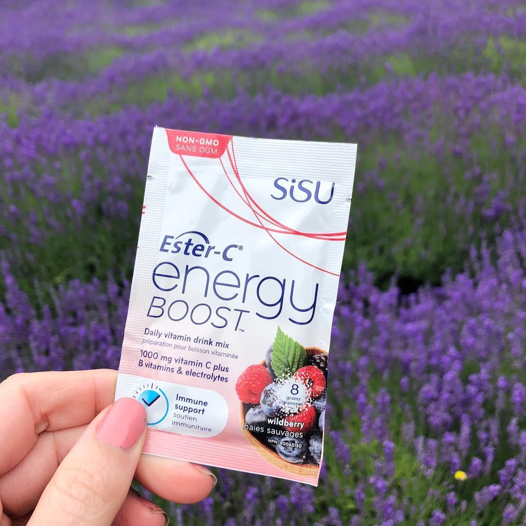 加拿大SISU酯化维生素C能量补充粉 柠檬味 24小时免疫支持 添加B族维生素和电解质 提升精力 超强补水