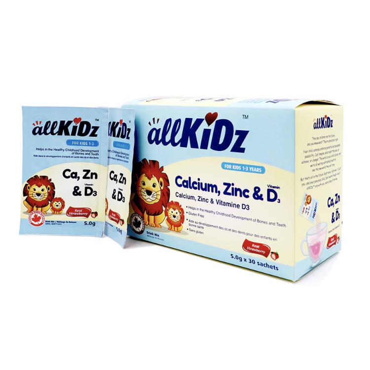 加拿大allKiDz儿童钙锌D3冲剂 适用1~3儿童 帮助孩子改善挑食厌食