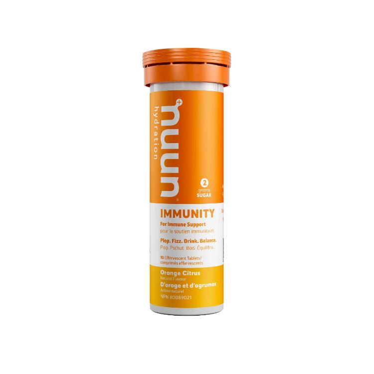美国Nuun电解质提升免疫力泡腾片 不含咖啡因 随时随地自制免疫力果味饮料 橙味