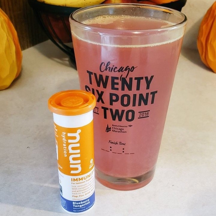美国Nuun电解质提升免疫力泡腾片 不含咖啡因 随时随地自制免疫力果味饮料 蓝莓味