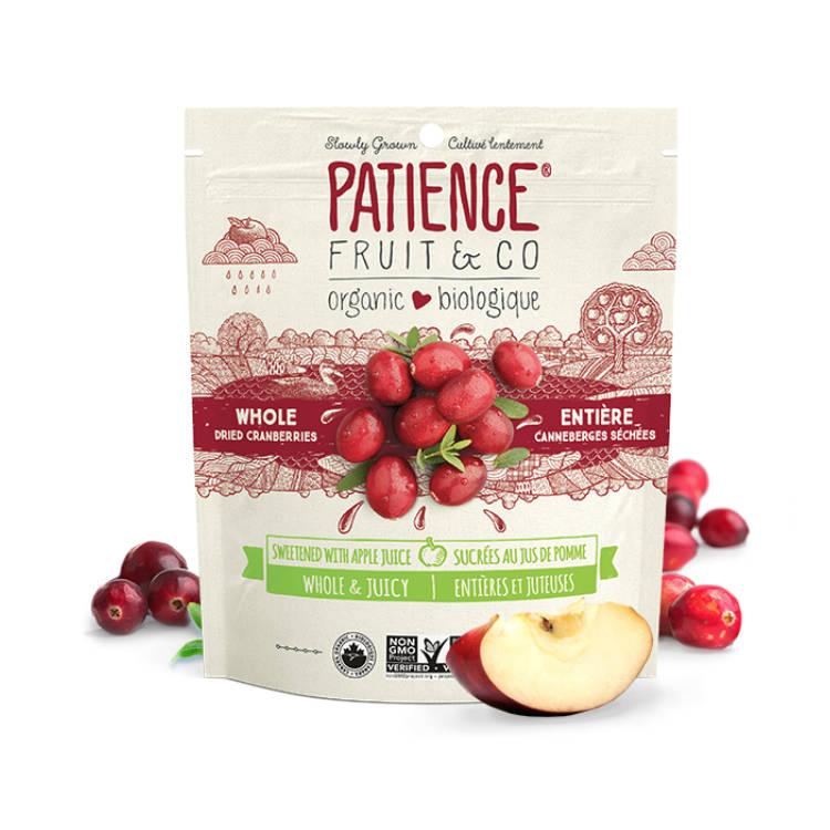 加拿大Patience有机蔓越莓干  采用苹果汁替代糖