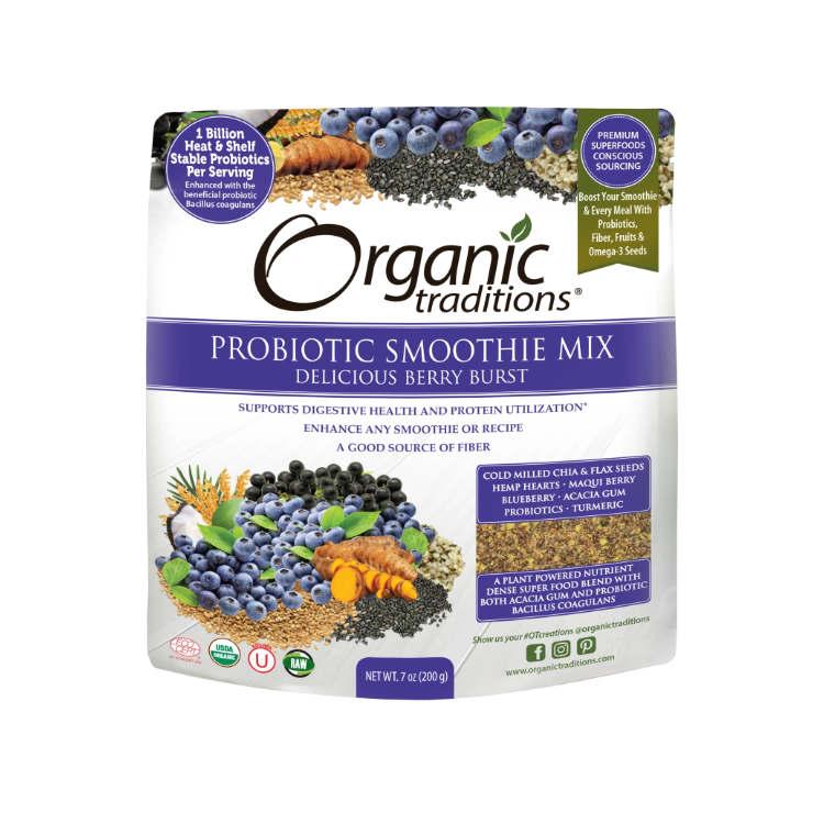 美国Organic Traditions超级有机种子莓果精华益生菌 特别添加姜黄 富含植物Omega-3 维护消化系统健康
