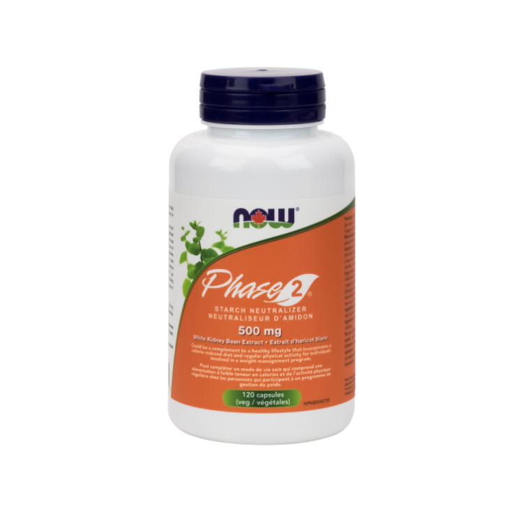 美国Now Foods白芸豆精华Phase 2淀粉中和剂 120粒 安全助瘦身 缓解碳水化合物摄入过多