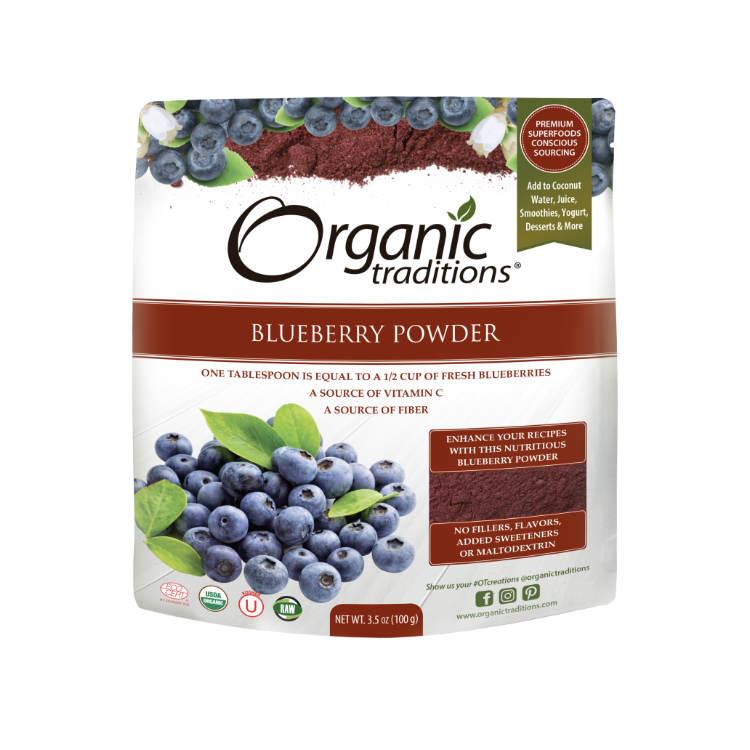 美国Organic Traditions有机蓝莓粉 1勺相当于1/2杯新鲜蓝莓