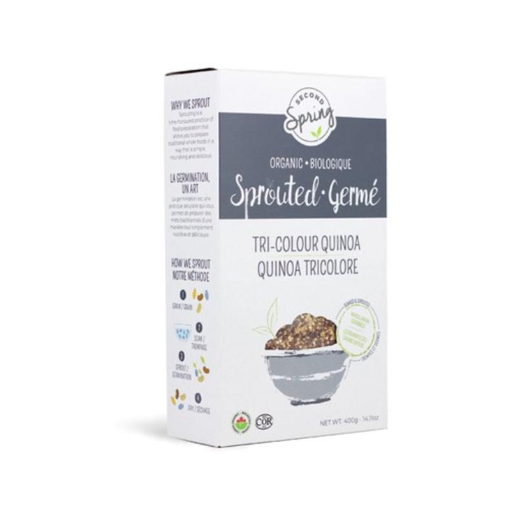 加拿大Second Spring有机发芽藜麦 3色混合装 富含蛋白质及纤维 减肥时期好伴侣