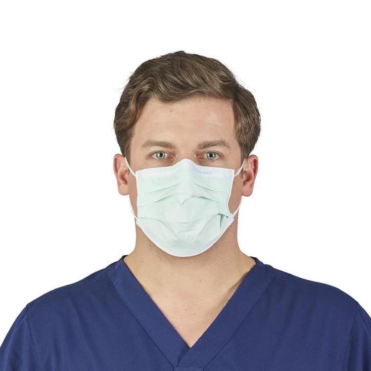 美国Halyard医用口罩 欧盟Type I认证 细菌过滤效能相当于Level 1口罩 50片装