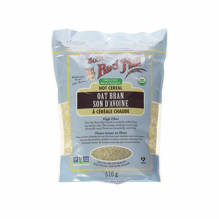 美国Bob's Red Mill有机燕麦麸 510g 热水冲泡即食 富含β葡聚糖膳食纤维 调节血糖 有助减重