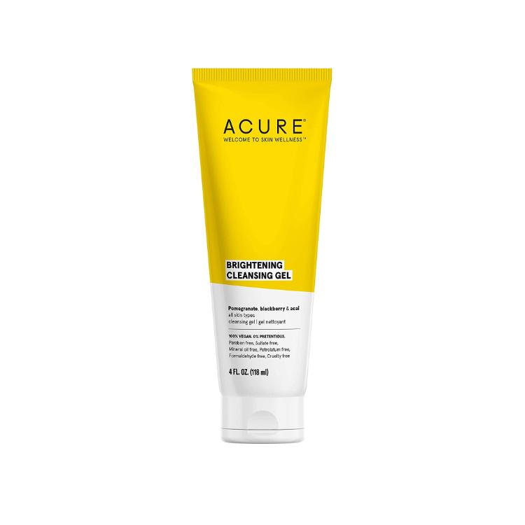 美国Acure亮白系列洁面乳 118ml 富含抗氧化剂 卸妆同时去除污垢油脂 帮助肌肤焕发光彩