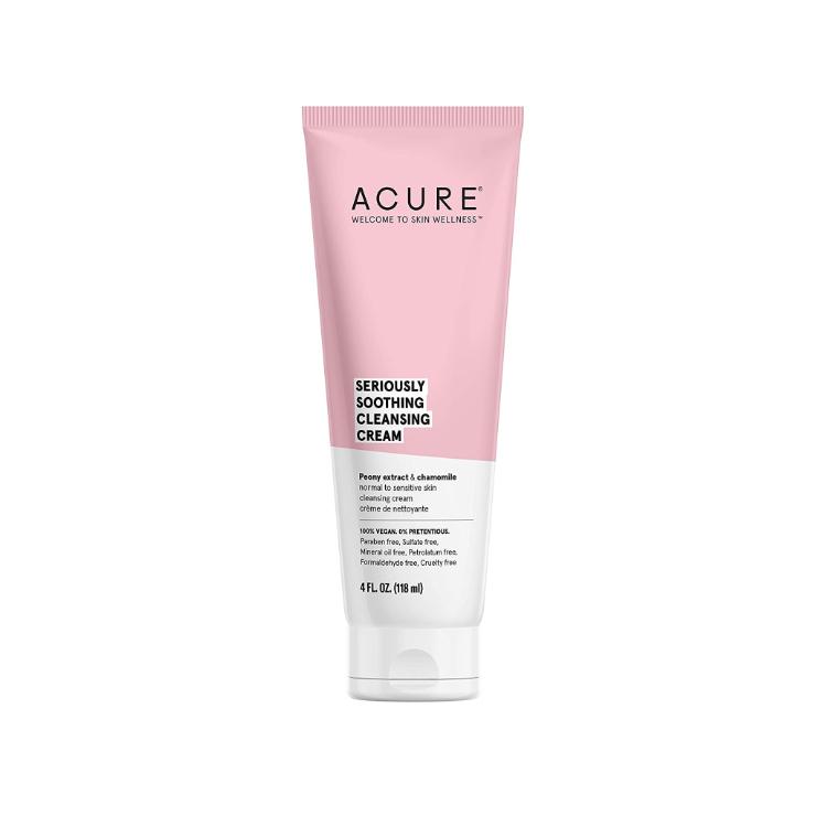 美国Acure敏感肌舒缓系列洁面乳 118ml 富含牡丹提取物/洋甘菊 舒缓补水