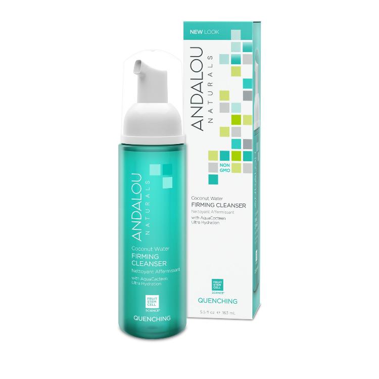 美国Andalou Naturals仙人掌萃取系列椰子水洁面泡沫 163毫升 持久保湿 改善皮肤色调质感