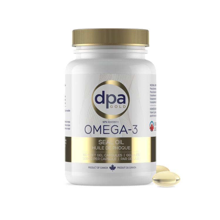 加拿大DPA Gold帝比爱金牌海豹油Omega-3 500毫克180粒装 每瓶1个月量