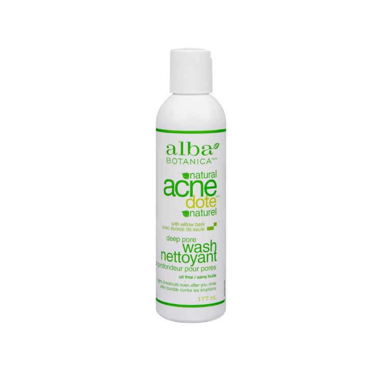 美国Alba Botanica ACNEdote深层毛孔清洗液 177ml 改善痤疮 帮助袪痘 含2%水杨酸 7天内70%用户感到改善