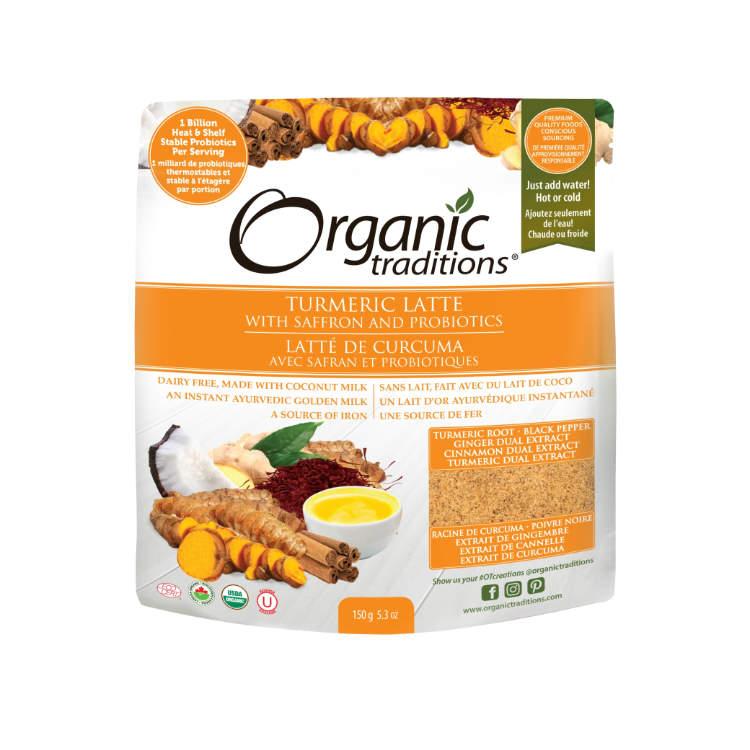 美国Organic Traditions有机姜黄拿铁 150克 含益生菌藏红花 减少体内炎症