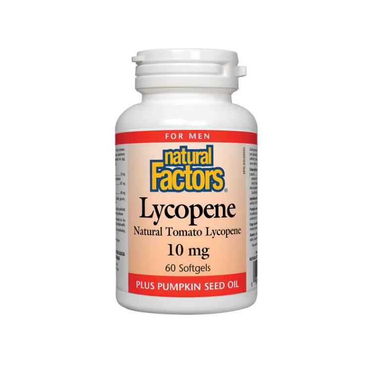 加拿大Natural Factors番茄红素胶囊 60粒 添加南瓜籽油 养护男性前列腺 预防前列腺癌