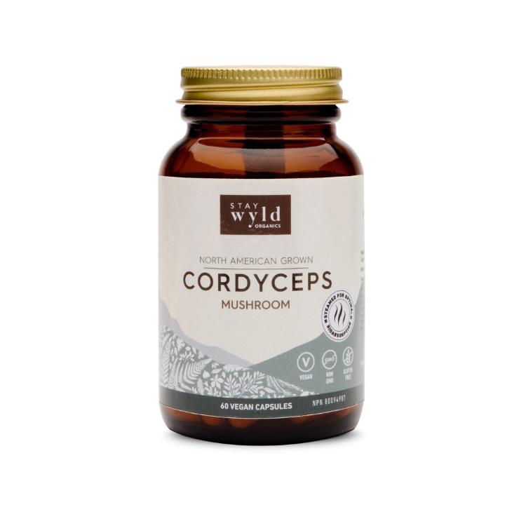 加拿大Stay Wyld冬虫夏草胶囊 60粒 提升肾上腺素 保持活力 提高运动成绩
