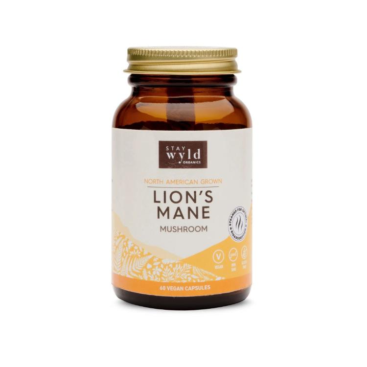 Stay Wyld, Lion's Mane Mushroom Capsules, 60 Vcaps