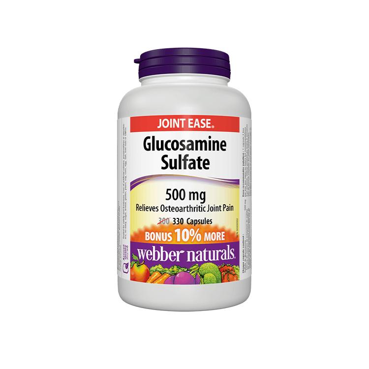 Webber Naturals, Glucosamine Sulfate 500mg, 330 Caps