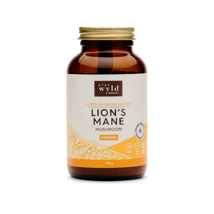 加拿大Stay Wyld猴头菇粉末 100克 可添加至咖啡或饮料 提升认知功能 促进大脑健康